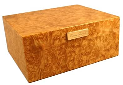 Visol Exotic Wood with Laquer Cigar Humidor (Holds up to 30 Cigars)