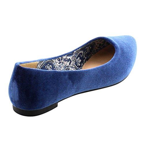 Shoes Shoes Betani Women Ballet On Flats Women Womens Flats Bea Slip On for Navy Casual Velvet Flats Slip qI07vnrwq