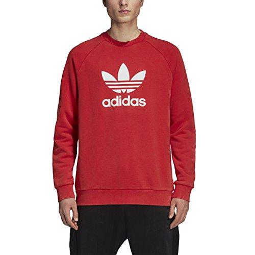 adidas Originals Men's Trefoil Warm-up Crew, Collegiate Red, L