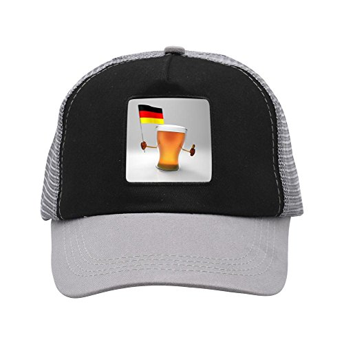 Flags and beer 2018 football World Cup Baseball Adult Unisex Mesh Caps Gray ()