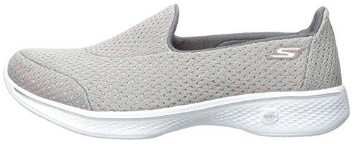 Skechers Performance Women's Go Walk 4 Kindle Slip-On Walking Shoe,Gray/Pink,9 M US by Skechers (Image #5)