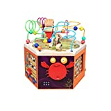HXGL-Toys Wooden Treasure Box Children's Toys Beaded Knock On The Piano Flap Letters Cognition Over 3 Years Old (Color : A)