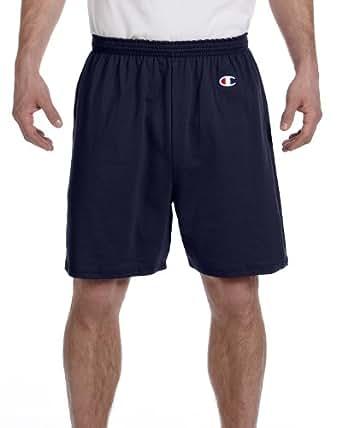 Champion Cotton Gym Shorts, Navy , Large