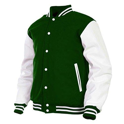 Green Wool Varsity Jacket - 5