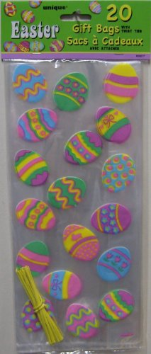 Easter Cello Bags Egg Design 20ct. with Ties