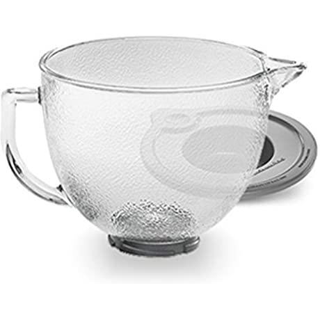 KitchenAid K5GBH Tilt Head Hammered Glass Bowl With Lid 5 Quart