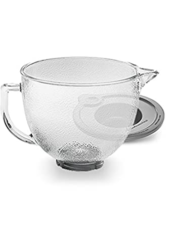 KitchenAid K5GBH 5-Qt. Tilt-Head Frosted Glass Bowl with Measurement Markings & Lid