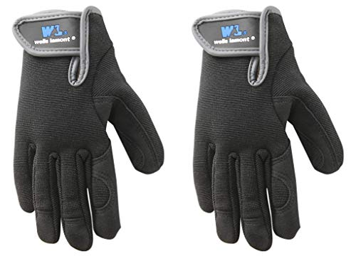 Youth Synthetic Leather - Youth Synthetic Leather Gloves, High Dexterity, Spandex Back, Machine Washable (Wells Lamont 7700Y) (2 Pair)