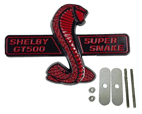 Shelby Super Snake - Black & Red Ford Mustang Shelby GT500 Super Snake Wing Grille Direct OEM Replacement Emblem