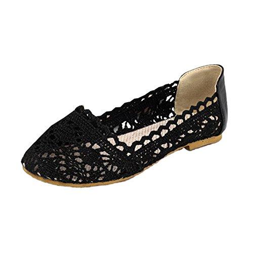 lace Women's shoes flats Nonbrand ballet sandals Summer Brown flat ballerinas qHd8E4Etwf