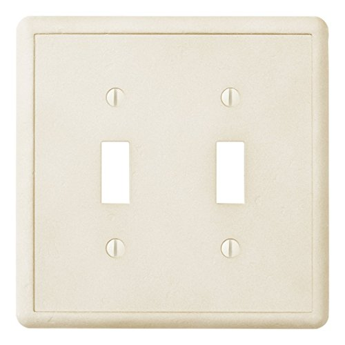 Questech Ivory Decorative Wall Plate/Switch Plate/Outlet Cover (Double Toggle Switch)