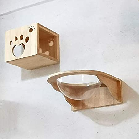 Cat wall furniture Step as a gift Cat set furniture Wooden home for cat Kitten playplace Cat modern house Wall decoration Cat tree
