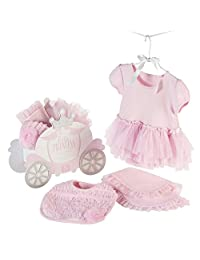 Baby Aspen Little Princess Three-Piece Gift Set (Bib Burp Cloth and Bodysuit), Pink