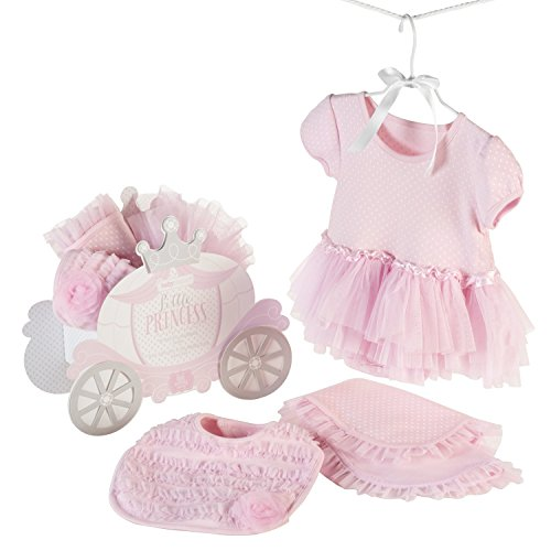 Baby Aspen Little Princess 3 Piece Gift Set, Baby Onesie Outfit, Newborn Halloween Costume, Pink]()