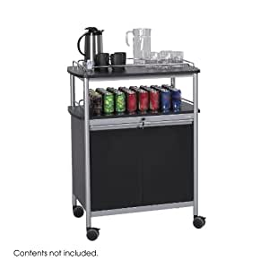 Safco Products 8964BL Mobile Beverage Hospitality Cart, Black
