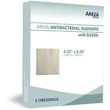 "Silver Alginate (Antibacterial Alginate with Silver) 4.25""x4.25"" Sterile; 5 Dressings Per Box (1) (4.25"" X 4.25"") (1)"