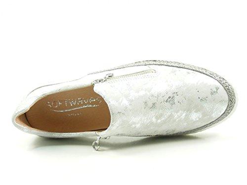 Softwaves 7-01-04 Schuhe Damen Slipper Sneaker Halbschuhe Grau