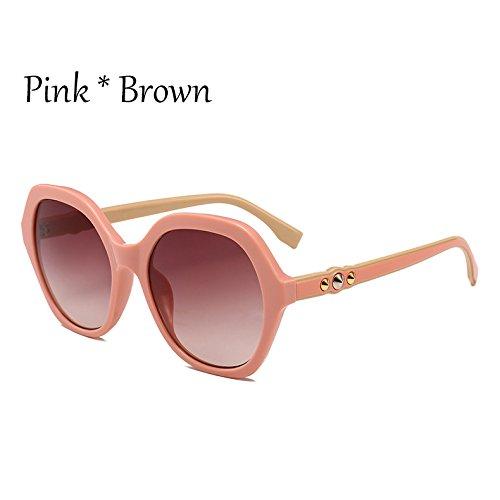 sol extragrandes gafas Viajes sol señoras Marco sol verde Gafas mujer G351 de Pink de Gafas Sunglasses Frame de TL C2 tonos C5 Vintage qp4Ot0xW