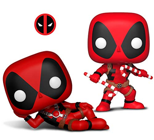 Warp Gadgets Bundle - Funko Pop! Marvel: Holiday - Deadpool W/ Candy Canes and Pop Marvel: Deadpool (2 Items)