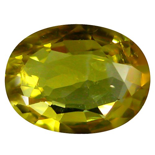 8x6mm Oval Ceylon Sapphire - 1.21 ct PGTL Certified AAA+ Oval Cut (8 x 6 mm) IF Clarity Ceylon Yellow Sapphire Loose Gemstone