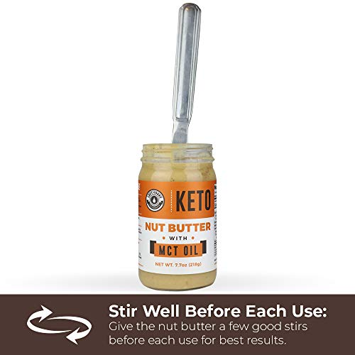 Keto Nut Butter Fat Bomb [Crunchy], Macadamia Low Carb Nut Butter Blend (1 net carb), Keto Almond Butter with MCT Oil, Left Coast Performance, 7.7 Oz