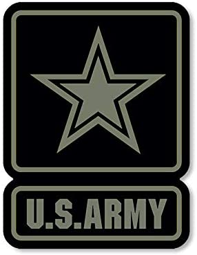 amazon com american vinyl us army logo black green subdued colors sticker decal us gi military muted automotive american vinyl us army logo black green subdued colors sticker decal us gi military muted