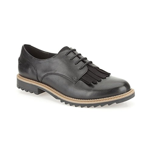Clarks Griffin Mabel - Black Leather Womens Shoes 11.5 US