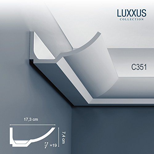 Orac Decor C351 LUXXUS cornice indirect lighting system ceiling coving decoration moulding 2 m by Orac Decor
