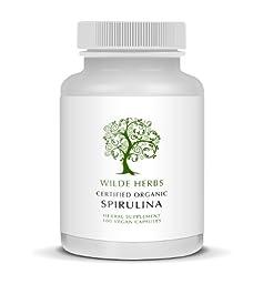Organic Spirulina 100 Capsules (Wilde Herbs)