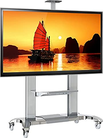 North Bayou Mobile TV Stand Heavy Duty TV Cart for Massive LCD LED OLED Flat Panel Plasma TV 60