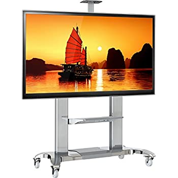 Amazon Com North Bayou Mobile Tv Stand Heavy Duty Tv Cart