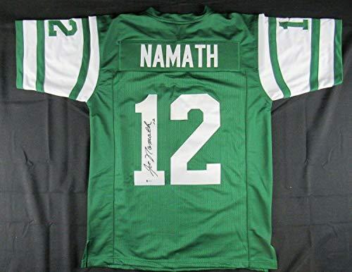 Joe Namath Signed Jersey - Replica Beckett BAS COA - Beckett Authentication - Autographed NFL Jerseys
