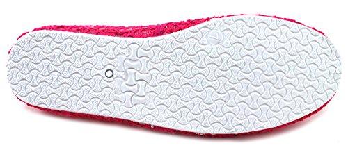 Slip Canvas Fuchsia Shoe Fashion On Cammie Women's Flats Espadrilles Mesh zq5Ewpfx