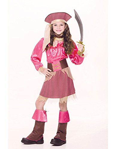 Captain Cutie Girls Pirate Costumes (Captain Cutie Child Costume - Large)