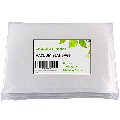 (CHUANGYI 100 Quart Pre-Cut Food Vacuum Sealer Storage Bags 8