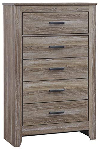 Ashley Furniture Signature Design - Zelen Chest of Drawers - 5 Drawer Dresser - Warm Gray Corner Chest Of Drawers