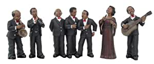 "7 PIECE JAZZ BAND STATUE FIGURINE 6-1/2""H, 95073 BY ACK"