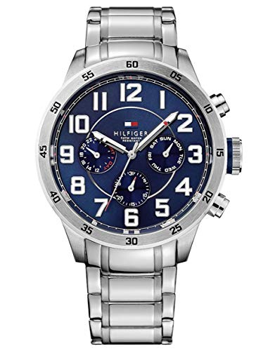 Tommy Hilfiger Men's 1791053 Stainless Steel Watch with Link Bracelet ()