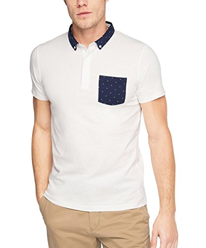 Esprit Po Sj Aop Ss - Polo Hombre blanco (blanco 100)