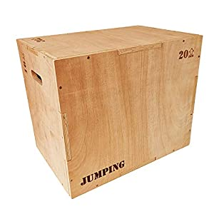 Well-Being-Matters 41oUE%2B%2Bk7wL._SS300_ JacMok Wooden Jumping Plyometric Box 3-in-1 - Plyo Box for Aerobic, Jump Training and Conditioning- Heavy Duty, Sanded…