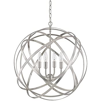capital lighting 4234bn axis four light pendant brushed nickel finish - Capital Lighting