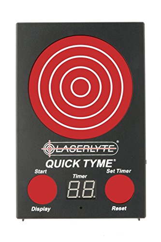 Reaction Timer - LaserLyte Trainer Target Quick TYME with 62 LEDs That Light up Shot Timer Built in to Record Dry fire Laser Shots Laser Tracer FIRE The LEDs Light up in Order of Being Shot Buy a Laser Trainer