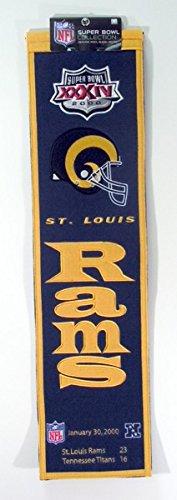 NFL St. Louis Rams Super Bowl XXXIV Banner