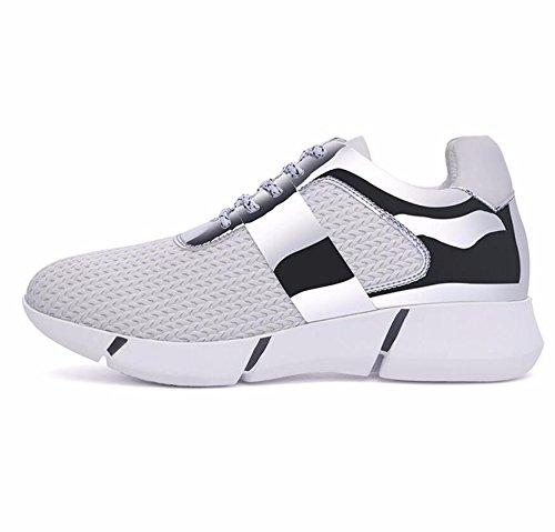 KHSKX-Blanco 3Cm Canvas Shoes Versión Coreana De La Nueva Primavera De Fondo Plano De Junta Casual Zapatos Femeninos De Marea Y 34 Estudiantes De Escuela Secundaria. 37