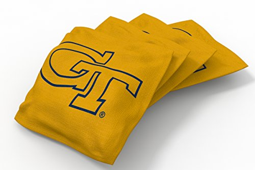 Wild Sports NCAA College Georgia Tech Yellow Jackets Yellow Authentic Cornhole Bean Bag Set (4 Pack)