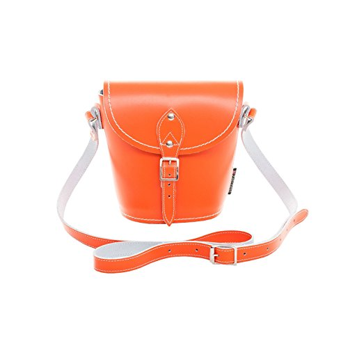 Zatchels - Borsetta Barrel in Pelle Fatta a Mano - Classico - Donna Marrone scuro