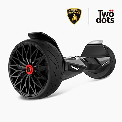 LAMBORGHINI TwoDots Hoverboard 8.5 with App Glyboard Corse and Bluetooth Speaker LED Lights Two-Wheel Balancing Electric Hover Board Scooter for Kids and Adult by UL2272 Certified
