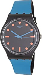 Swatch Men's Originals SUOB121 Black Silicone Swiss Quartz Watch