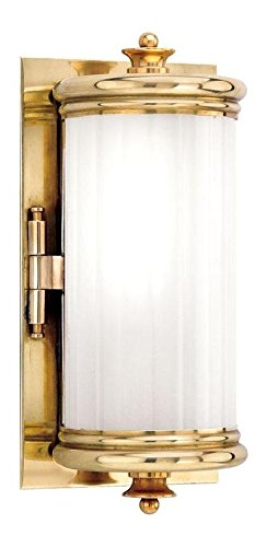 Aged Brass One Light Wall Sconce from the Bristol Collection
