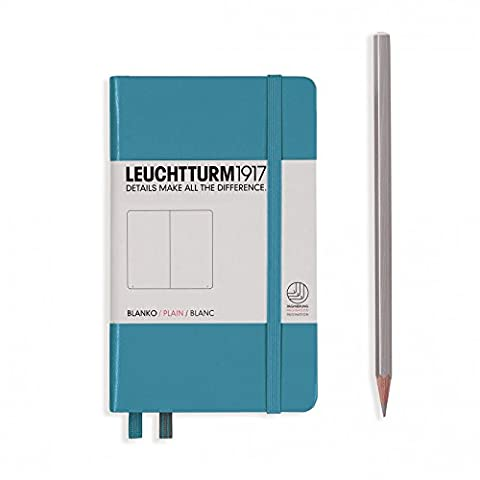 LEUCHTTURM1917 Hard Cover Small (A6) Pocket Notebook, Nordic Blue, Dotted - Slim Pocket Diary